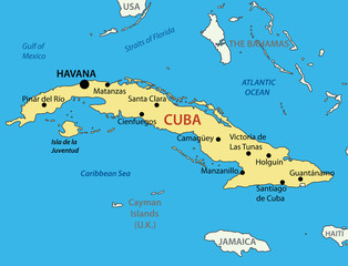 Republic of Cuba - vector map
