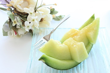 freshness Melon from Japan in Summer