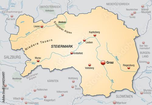 Steiermark Karte Flüsse.Karte Der Steiermark Stockfotos Und Lizenzfreie Vektoren Auf