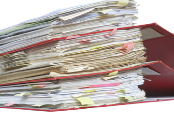 Stack of office file folders