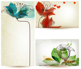 Fotobehang Abstract bloemen Vintage floral backgrounds