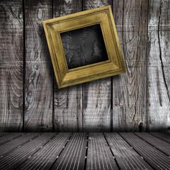 quadro contro parete di legno