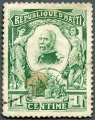 HAITI - CIRCA 1904: shows President Pierre Nord Alexis