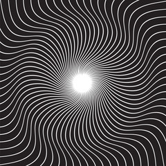 Papiers peints Psychedelique Black and white hypnotic background. vector illustration