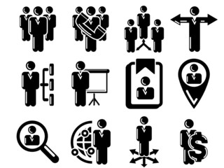 Management and human resource 12 icons