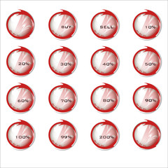 Percentual buttons - red arrow