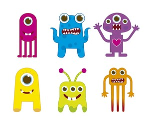 Door stickers Creatures monsters