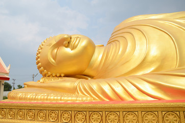 Lying Buddha image in kohyaor songkhla, Thailand.