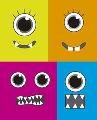 Aluminium Prints Creatures monsters faces