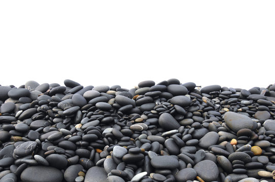 background of closeup of a pile pebbles
