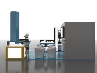 Exhibition Stand Interior/Exterior Sample