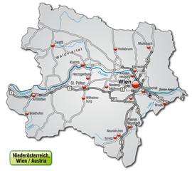 Autobahnkarte des Kantons Niederösterreich