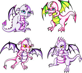 Pink baby dragons