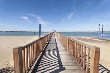 pier in a beach