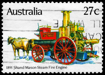 AUSTRALIA - CIRCA 1983 Shand Mason Steam