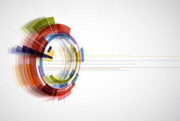 Abstract bright technology banner editable dinamic background