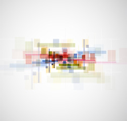 Abstract bright futuristic technology dinamic fade background