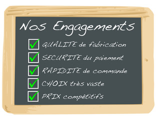 Ardoise : Nos Engagements