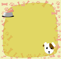Pet care background-Dog with Pet Food- with place for text