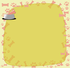 Pet care background-pet food with place for text