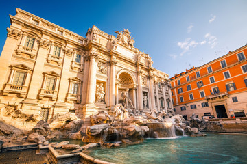 Aluminium Prints Rome Fountain di Trevi