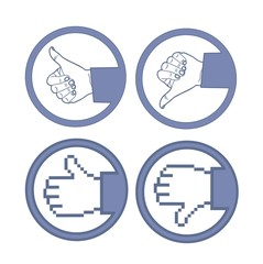 hand with thumb up and down