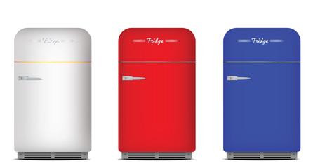 Set of retro refrigerators