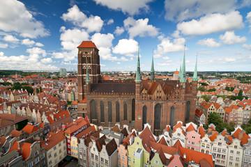 Obraz Katedra w starym mieście w Gdańsku - fototapety do salonu
