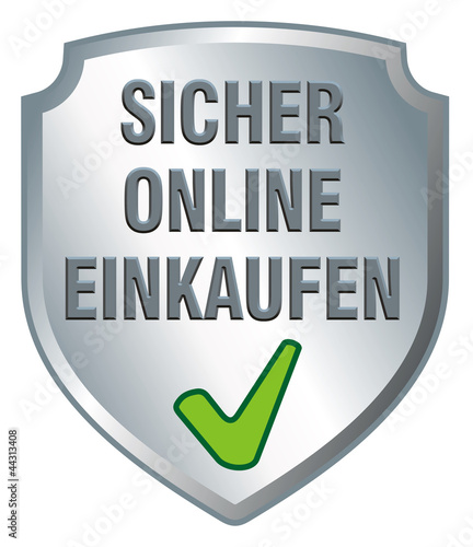 schild sicher online einkaufen stockfotos und. Black Bedroom Furniture Sets. Home Design Ideas