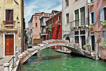 Foto op Plexiglas Venetie pictorial Venetian streets