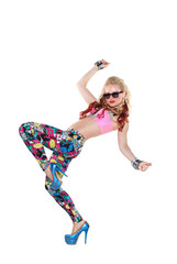 Cool dancer girl in sunglasses