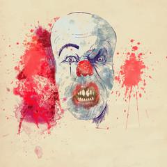 spooky halloween clown