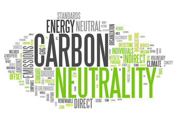 "Word Cloud ""Carbon Neutrality"""