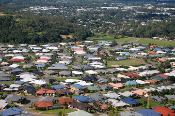 Cairns suburb view from hill
