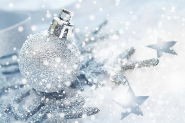 Cold wintery Christmas background