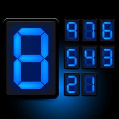 Digital LED Numbers