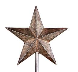 Rustic Christmas star tree topper