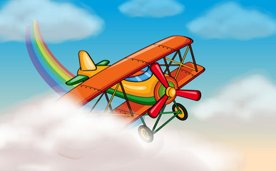 Poster Regenboog aircraft