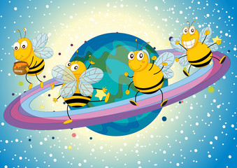 honey bees on saturn