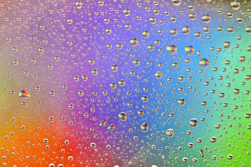Rainbow Drops Water Rain Background