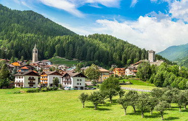 Osanna, Typical alps town in Trentino Italy