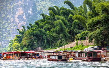Boating in Guilin river