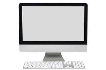 Computer monitor isolated with clipping path