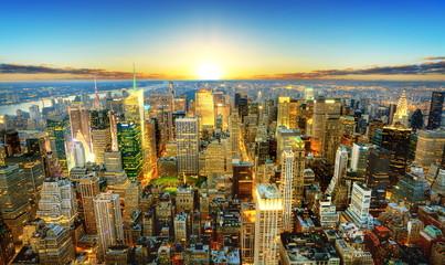 Crépuscule sur New York. Fototapete
