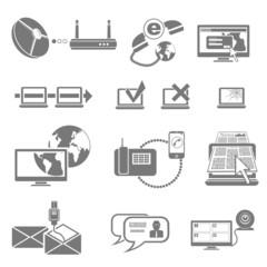 communications vector icon set