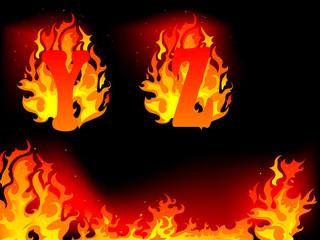 Fototapete - Burning letters