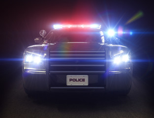 Police car ,with full array of lights and tactical lights