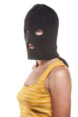 Woman in balaclava