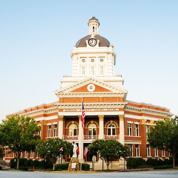 Historic Morgan County Courthouse in Madison, Georgia