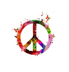 Colorful peace sign. Vector
